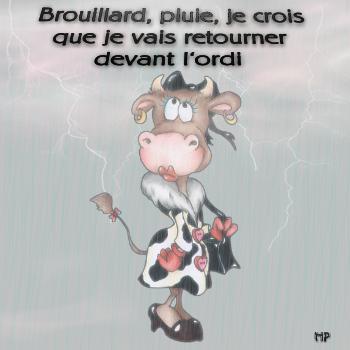 Brouillard, Pluie